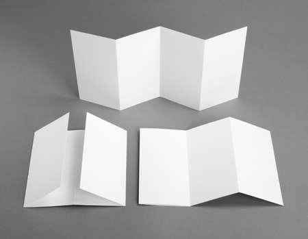 z fold: identity design, corporate templates, company style, blank white folding paper flyer Stock Photo
