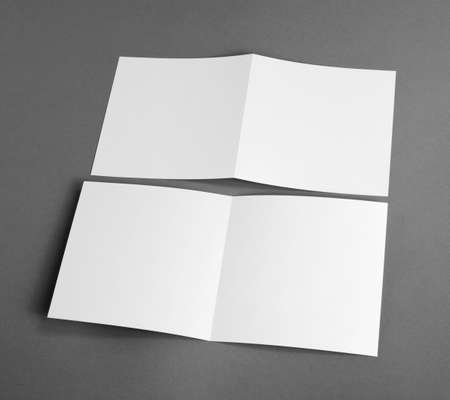 handouts: White empty cards on grey to replace your design