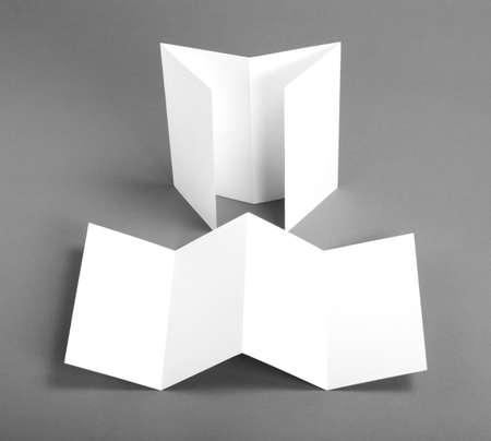 identity design, corporate templates, company style, blank white folding paper flyer Reklamní fotografie