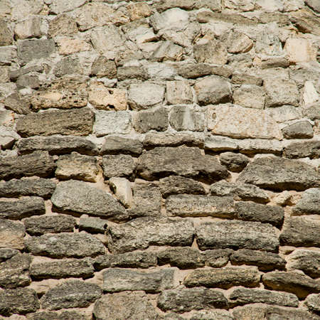 coquina: The texture of the old stone wall