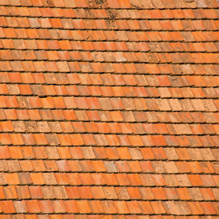 tiling: Ceramic rooftop tiling Stock Photo