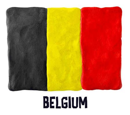 plasticine: Flag of the Belgium made of plasticine
