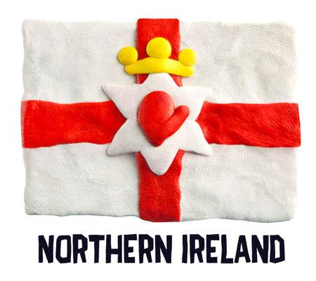 northern ireland: Flag of the Northern Ireland made of plasticine