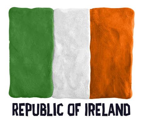 republic of ireland: Flag of the Republic of Ireland made of plasticine