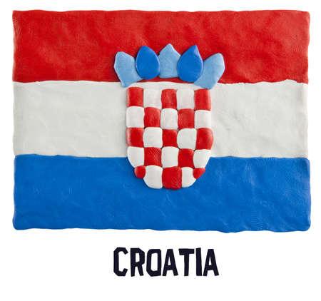 plasticine: Flag of the Croatia made of plasticine Stock Photo