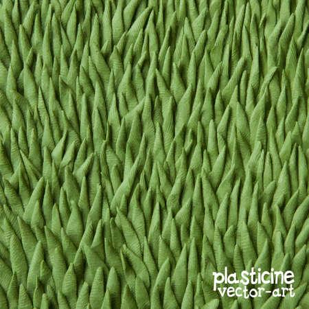 plasticine: Plasticine grass Illustration