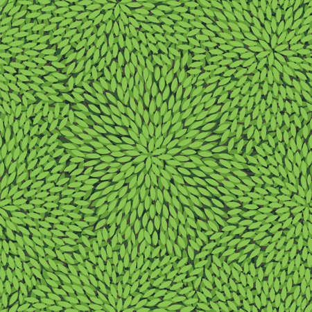 disordered: Seamless pattern with green leaves
