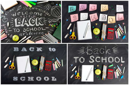 numeric: Big collection of Back to school concept for your text, design