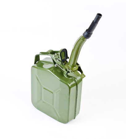 Jerrycan with flexi pipe spout on a white background Imagens - 88622660