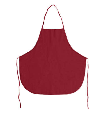 Kitchen apron. Front view. Isolated on a white background