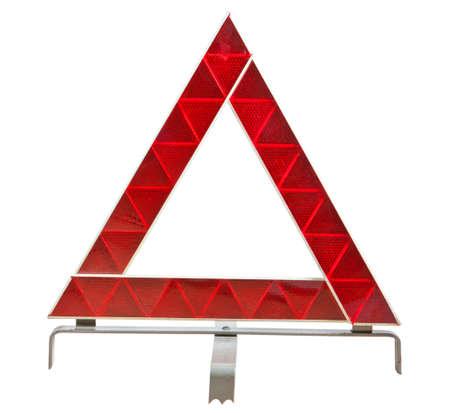 Car emergency sign isolated on white background Stock Photo