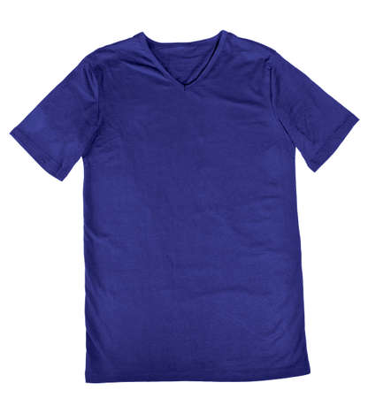 Purple t-shirt mock up a white background, ready to replace your design