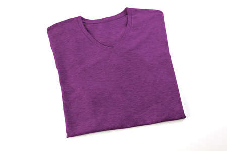 Purple folded t-shirt mock up, ready to replace your design