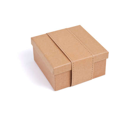 Cardboard box for packaging on a white background Banque d'images