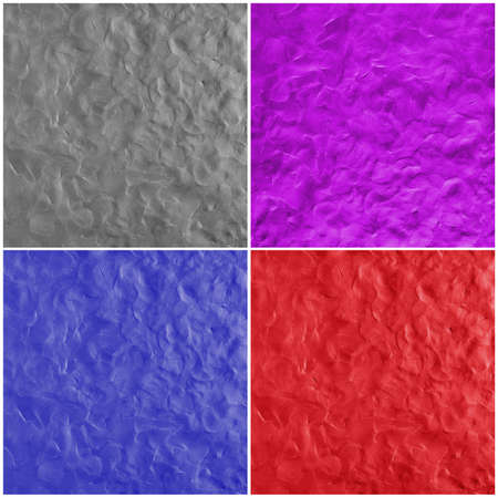 Set of multi colored backgrounds with fingerprints made from plasticine Stok Fotoğraf