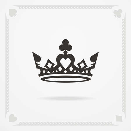King crown symbol. Vector heraldic elements design
