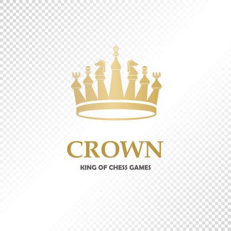 A big golden crown. Vector heraldic elements design