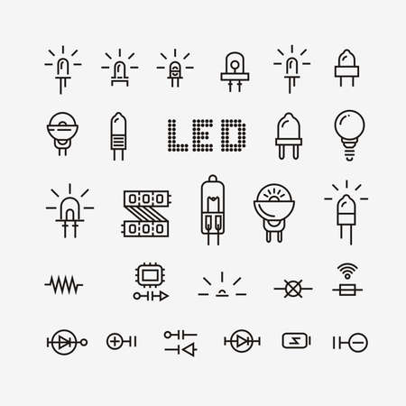 Set of electronic components related