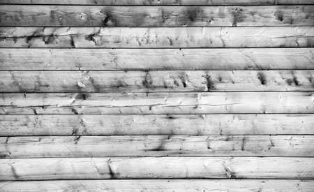 Wooden wall with horizontal planks. Close up of an old wooden fence panels Stock Photo