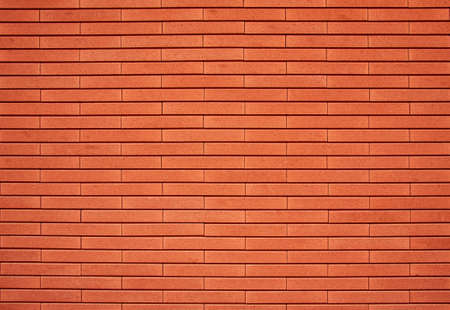 Empty red brick wall textured background