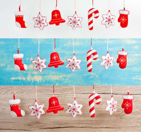 Set of Hanging Christmas and New Year decorations