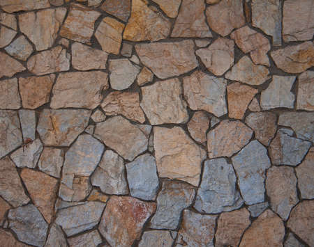 Texture of old rock wall for background Stock Photo