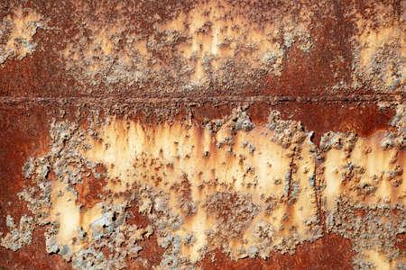 Fond ancien en métal. Surface métallique rouillée et grossière