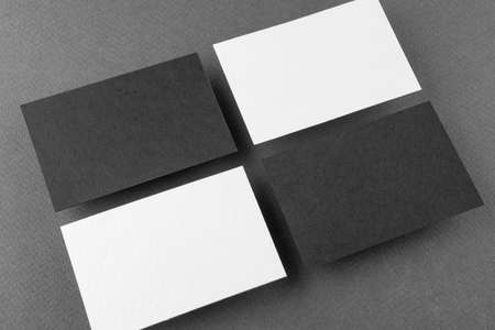 Mockup of business cards. Template for branding identity Stock Photo