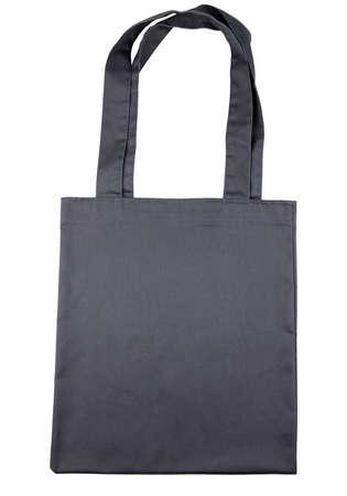 Black shopping bag on the White background Imagens