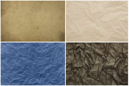 Old vintage crumpled paper texture for background Imagens