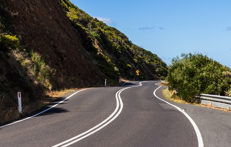 crooked: The crooked road on the great ocean road in Victoria Australia