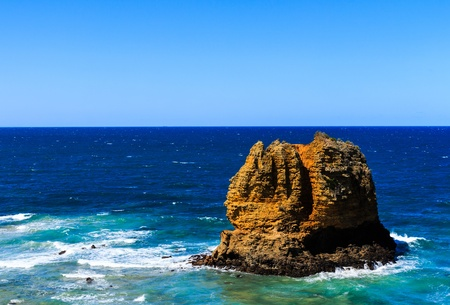 The rock near Split Point Lighthouse on the Great Ocean Road, Victoria, Australia photo