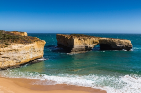 London Arch at Port Campbell National Park on the great ocean road in Victoria Australia photo