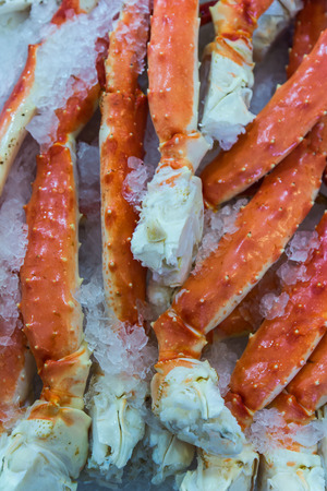 alaskan: Many Alaskan king crab legs in the public market, Seattle, Washington, America