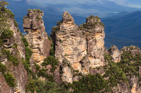 The Three Sisters in the Blue Mountains Sydney Australia in summer