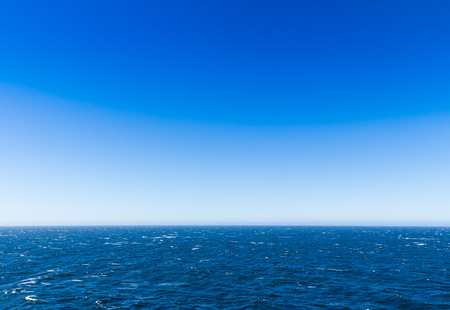 The sea view with blue sky from the cruise in Alaska photo