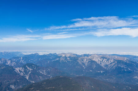 zugspitze mountain: The mountain view at Top of Germany, Zugspitze in Germany Stock Photo