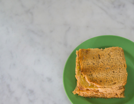 kaya: The kaya toasts on the green dish