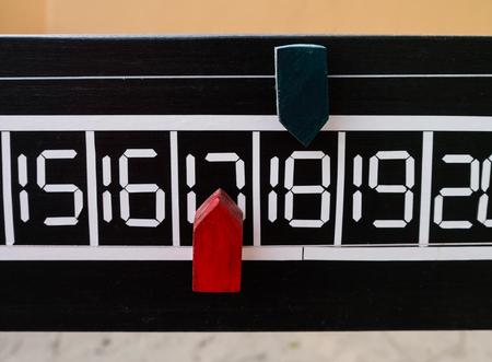 petanque: The score board of petanque