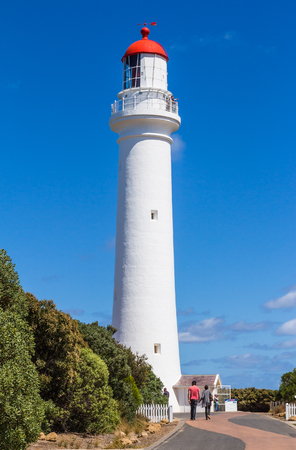 VICTORIA, AUSTRALIA - MARCH 1, 2013: The view at Split Point Lighthouse in Aireys Inlet on the Great Ocean Road, Victoria, Australia