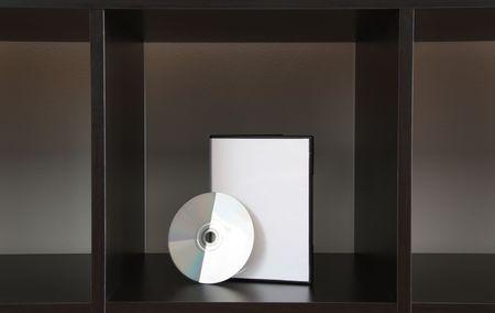 dvd box and dvd in a square Closeup photo