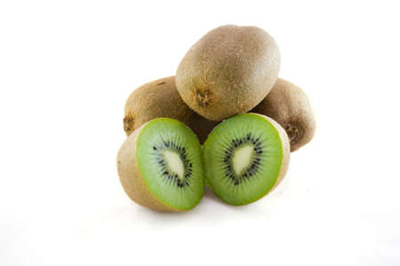 Kiwi on a white background.