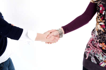 Two people are shaking hands. Stock Photo - 6483226