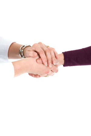 Two people are shaking hands with each-other Stock Photo - 6483222
