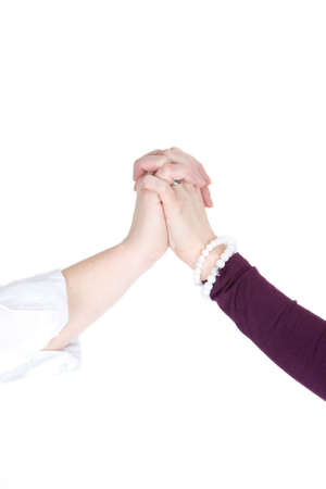 Two hands together for a good freindship. photo