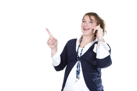 A woman is having an idea on the phone. Stock Photo - 6735610