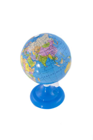 A globe on a white background