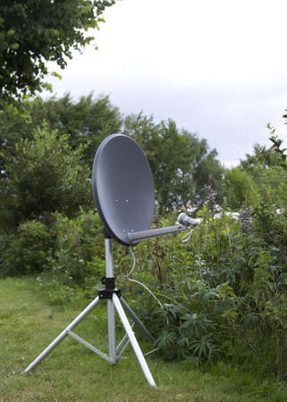 tunable: A satellite dish in the open field