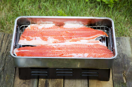 caudal: Preparing trout in a small oven or grill