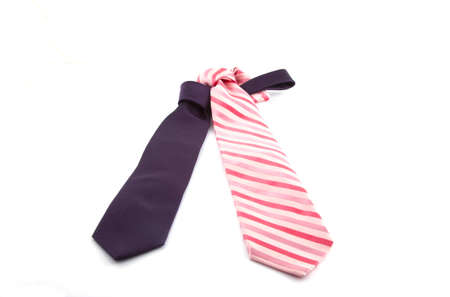 Purple and pink tie on a white background Stock Photo - 7666339